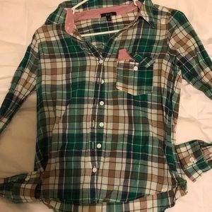 Plaid shirt....